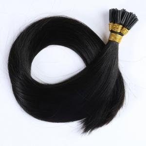 hair extensions i tip natural wave virgin remy hair color #1b