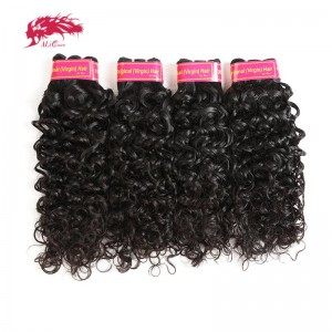 top grade brazilian water wave unprocessed 4pcs raw virgin hair extensions