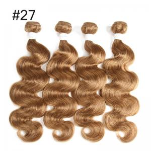 4 bundles of brazilian colored remy hair body wave human hair