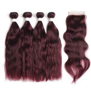 summer color for natural wave remy hair 4 bundles with swiss closure deal free shipping