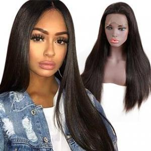 lace frontal natural looking human hair wigs hot sale straight wigs 130 density human hair