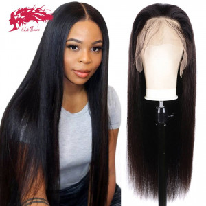 hair 180% density peruvian straight 13x4 4x4 lace closure wig remy hair bundles with closure
