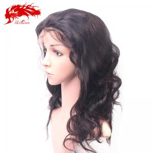 brazilian body wave 5x5 lace closure wig 250% custom remy human hair lace wig