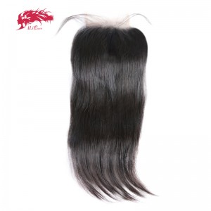 swiss transparent 6x6 lace closure pre plucked with baby hair brazilian remy human hair straight closure