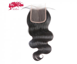 5x5 swiss transparent lace closure pre plucked with baby hair brazilian remy human hair body wave closure