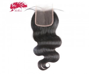 swiss transparent 6x6 lace closure pre plucked with baby hair brazilian remy human hair body wave closure