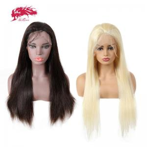 black 613 blonde virgin brazilian straight 13x6 lace front wig 150 density pre plucked human hair wigs
