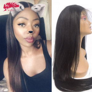 hair 180% density brazilian straight 13x4 4x4 lace closure wig remy hair bundles with closure