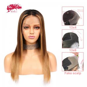 new arrival ombre straight lace front wig brazilian remy human hair 370 lace wigs fake scalp wig pre plucked wigs with baby hair