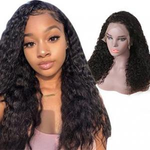 hot selling 13x6 lace frontal wig water wave hot sale 130 150 180 density remy hair human hair wigs