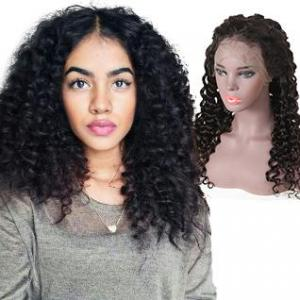 hot selling deep wave 13x6 lace frontal wigs 130 150 180 density remy hair human wigs