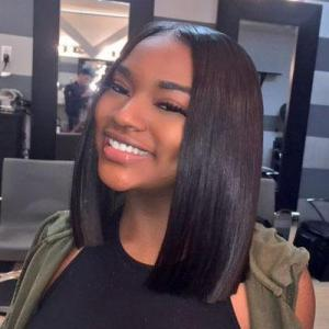 hot selling short bob wigs lace front wigs 150 180 200 density brazilian straight remy hair natural black