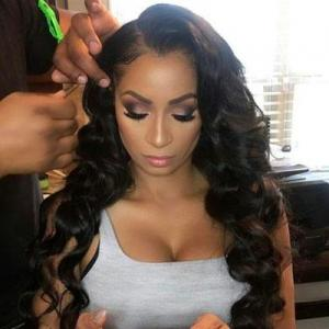 natural wave remy hair 13*6 lace frontal wigs shop by look for black women 100% human hair