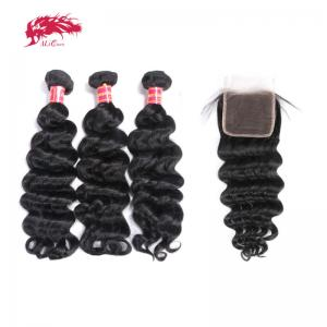 winter clearance hair brazilian remy hair 3 bundles natural wave with 1 4x4 lace closure