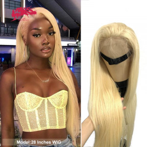blonde 613 or 1b613 lace front wig 4x4 lace closure wigs brazilian straight virgin 13x4 lace frontal human hair wigs