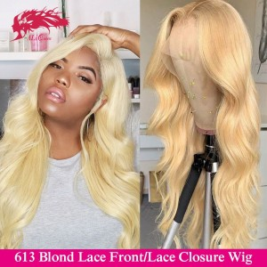 613 bundles with pre plucked 180 density lace frontal closure wigs custom made wig virgin remy brazilian body wave human hair wigs