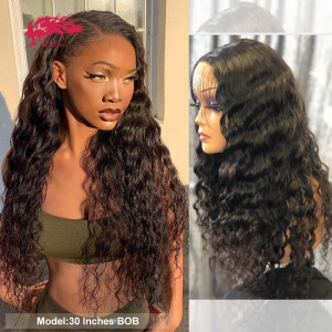 brazilian natural wave 4x4 lace closure wig natural black virgin human hair wig for women 13x4 lace front wigs