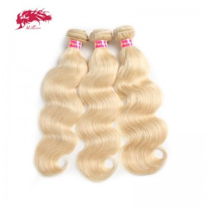 top sale 3 bundles of color 613 body wave blonde remy virgin human hair