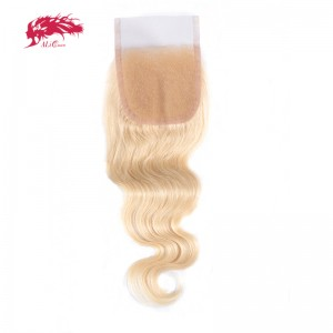 color 613 body wave 4*4 lace closures best human hair extensions