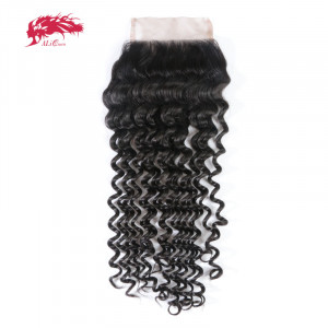 hot sale deep wave 4*4 lace closure cheap hair products from china