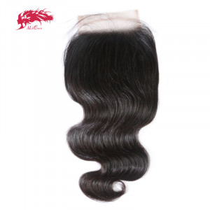 hd transparent lace closure 4x4 body wave swiss lace closure with baby hair free part