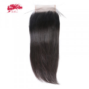 hd transparent straight 4x4 free part swiss pre plucked lace closures