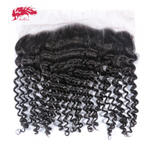 new arrival hair products 13*4 lace frontal deep wave closure 100% human hair