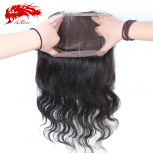 360 frontal body wave human hair lace band frontal brazilian virgin hair natural hairline and adjustment with baby hair