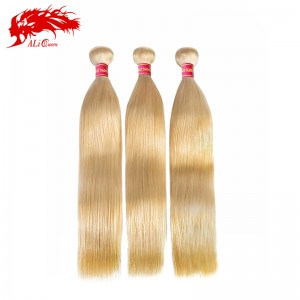 new arrival 3 pcs color 613 straight hair cheap blonde virgin human hair