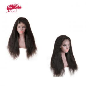 affordable real human hair lace front wig 150 density kinky straight lace wig customized order