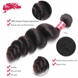best quality wholesale hair loose wave virgin hair extensions 100% human hair