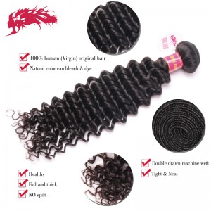 good quality brazilian deep wave virgin hair extensions