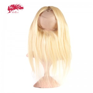 hair products straight virgin hair 613 pre plucked 360 lace frontal closure with adjustment