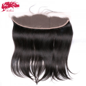 hair ear to ear lace frontal closure 13x4 with baby hair pre plucked brazilian straight remy hair free part