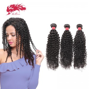 3 bundles brazilian virgin kinky curly hair weft human hair extension bundle deal