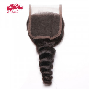 loose wave 4*4 lace closures remy hair best human hair extensions
