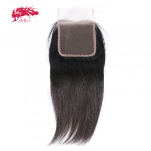 good quality straight 4*4 lace closures with baby hair remy hair real human hair extensions