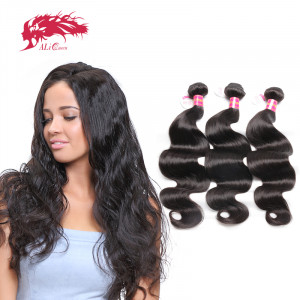 hot selling 3pcs brazilian body wave human virgin hair extension bundle deal