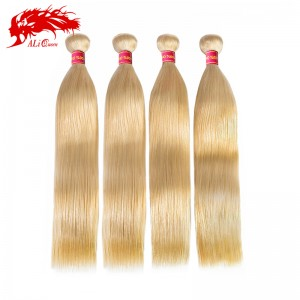 new arrival 4 bundles color 613 blonde straight hair 100% virgin human hair