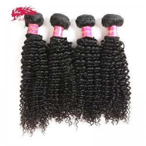 unprocessed 4 pcs brazilian kinky curly virgin hair extensions