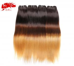 4pcs gorgeous color 1b 4 27 straight hair 100% real virgin human hair