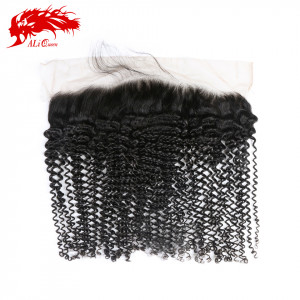 hair products 13*4 lace frontal kinky curly closure 100% human hair