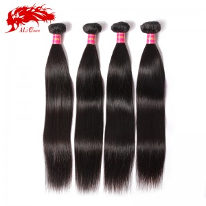 4pcs brazilian straight hair 100% unprocessed human hair bundle deal