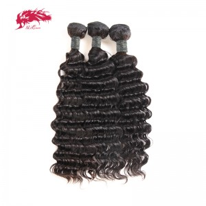 hair 3pcs deep wave peruvian hair weave bundles remy hair weaving remy hair natural color