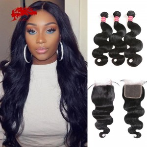 hair new arrival brazilian remy hair 3 bundles body wave weave with 1 closure