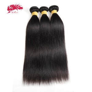 malaysian virgin hair 3pcs of straight hair can be dyed and bleached