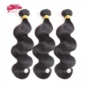 malaysian raw virgin hair body wave natural color 100 percent human hair machine double weft
