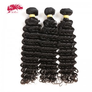 hair products 3pcs deep wave virgin hair bundles natural color